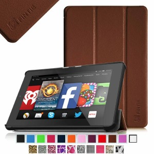 Fintie SmartShell Case for Fire HD 7 Tablet (2014 Oct Release) - Ultra Slim Lightweight with Auto Sleep / Wake Feature (will only fit Fire HD 7 4th Generation 2014 model), Brown