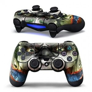 Mod Freakz Graphic Novel Comic Book Heroes Pair of Vinyl Decal Controller Sticker Skins for PS4 (Green Hair E