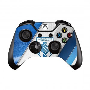 Mod Freakz Xbox One Controller Pair of Vinyl Decal Skins Grey/Blue/White Stripes