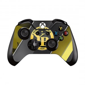 Mod Freakz Xbox One Controller Pair of Vinyl Decal Skins Yellow/Black/Stripe