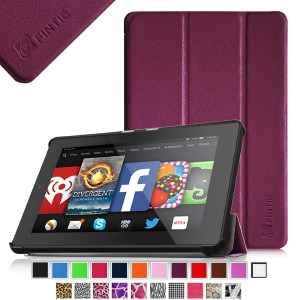 Fintie SmartShell Case for Fire HD 7 Tablet (2014 Oct Release) - Ultra Slim Lightweight with Auto Sleep / Wake Feature (will only fit Fire HD 7 4th Generation 2014 model), Purple
