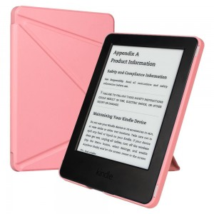 Kindle Case,Kindle (7th Gen) Smart Case Cover,ESR Yippee Colour [Ultra Slim][Light Weight] PU Leather Case Cover for Kindle 6 inches Glare-Free(New Touchscreen Display, 2014 Released)-Sweet Pink