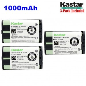 Kastar HHR-P104 Battery (3-Pack), Type 29, NI-MH Rechargeable Cordless Telephone Battery 3.6V 1000mAh, Replacement for Panasonic HHR-P104 HHR-P104A,23968 439024 439025 439026 439030 439031,KX-FG6550 KX-FPG391 KX-TG2302 KX-TG230 KX-TG2312 KX-TG2355W KX-TG2