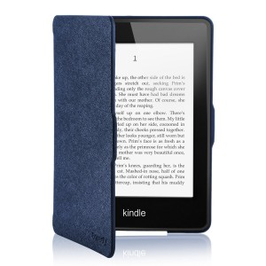 Coredy Lightweight Case Cover for Amazon Kindle Paperwhite (2012, 2013 and 2015 Version) with Auto Wake/Sleep Function (Black)