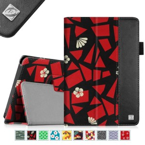 Fintie Folio Case for Fire HD 7 Tablet (2014 Oct Release) - Slim Fit Leather Standing Protective Cover with Auto Sleep/Wake Feature (will only fit Fire HD 7 4th Generation 2014 model), Flower Fragment
