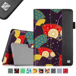 Fintie Folio Case for Fire HD 7 Tablet (2014 Oct Release) - Slim Fit Leather Standing Protective Cover with Auto Sleep/Wake Feature (will only fit Fire HD 7 4th Generation 2014 model), Floral Fan