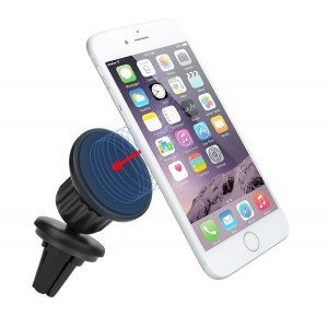 Best Magnetic Air Vent Mount,KINGLAKE Universal Cell Phone Car Mount Holder for iPhone 6/6S Plus, Galaxy S6/S6 Edge with Powerful Grip 360°Flexible Swivel Head 100% Money Back Guarantee