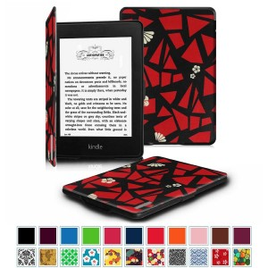 Fintie Case for Kindle Paperwhite, [Blade Series] Premium Protective Leather Cover Auto Wake / Sleep for All-New Amazon Kindle Paperwhite (Fits All 2012 2013 2014 and 2015 Versions), Flower Fragment