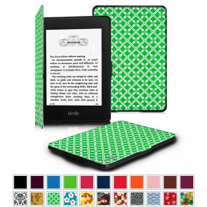 Fintie Case for Kindle Paperwhite, [Blade Series] Premium Protective Leather Cover Auto Wake / Sleep for All-New Amazon Kindle Paperwhite (Fits All 2012, 2013, 2014 and 2015 Versions), Spring Textile