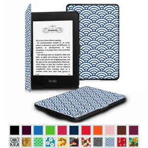 Fintie SmartShell Case for Kindle Paperwhite - The Thinnest and Lightest Leather Cover With Auto Sleep/Wake for All-New Amazon Kindle Paperwhite (Fits All 2012 2013 2015 and 2016 Versions), Ocean Mist