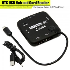 Costech Otg USB HUB and Card Reader Micro Usb Type Hub and Card Reader for Samsung S6 Galaxy Tab 3 10.1 Gt-p5200 / Gt-p5210 / Gt-p5220 Lte. Galaxy Tab 3 8.0 Sm-t310 / Tab 3 8.0 3g Sm-t311 / Tab 3 8.0 LTE Sm-t315. Galaxy Note 8.0 3g Gt-n5100 / Galaxy Note