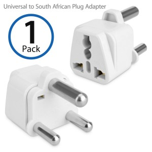 BoxWave Universal to South Africa Outlet Plug Adapter– Plug outlet adapter to South Africa - Great for Traveling! (White)