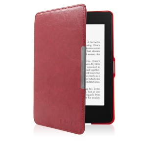 SAVFY Kindle Paperwhite Cover Case for Amazon All-New Kindle Paperwhite (Fits All Versions: 2012, 2013, 2014 and 2015 New 300 PPI), With Auto Sleep Wake Function, Red