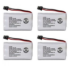 Axiom Rechargeable Battery For Uniden BT-446, BT-1005, ER-P512 (4-Pack)