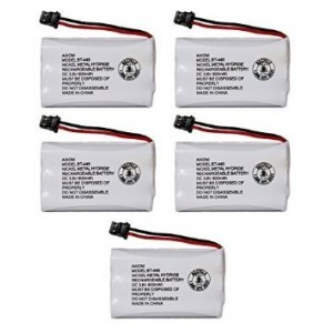 Axiom Rechargeable Battery For Uniden BT-446, BT-1005, ER-P512 (5-Pack)