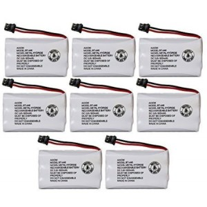 Axiom Rechargeable Battery For Uniden BT-446, BT-1005, ER-P512 (8-Pack)