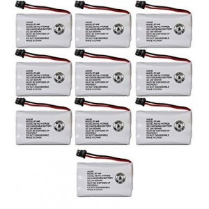 Axiom Rechargeable Battery For Uniden BT-446, BT-1005, ER-P512 (10-Pack)