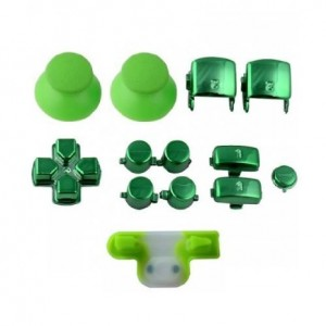 Console Customs PS3 Chrome Green Full Parts Set (Thumbsticks, Buttons, D-pad, Triggers, Start/Select) for Playstat