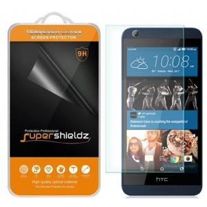 HTC Desire 626 626s Tempered Glass Screen Protector, Supershieldz Anti-Scratch, Anti-Fingerprint, Bubble Free, Lifetime Replacement Warranty