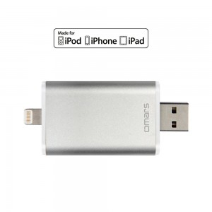 [Apple MFI Certified] Omars USB Flash Drive with Lightning Connector for iPhone 5, 5s, 5c, 6, 6 Pl