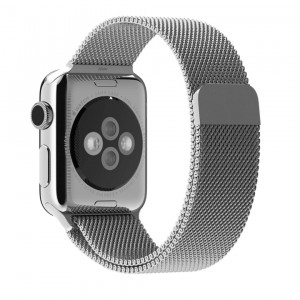 Apple Watch Band, 42mm Milanese Loop Mesh Smooth Stainless Steel Strap Freely Fully Magnetic Closure Clasp Metal Strap Wrist Band Replacement Bracelet for Iwatch and Sport and Edition Silver 42mm