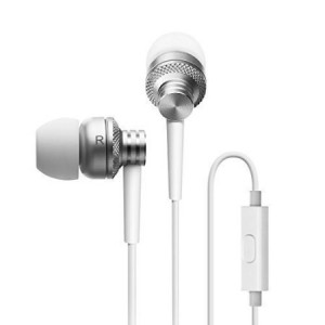 Edifier P270 In-ear Headset - Metallic Earbud Headphones with Mic and Remote Control - Silver