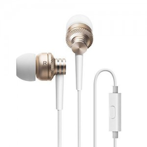Edifier P270 In-ear Headset - Metallic Earbud Headphones with Mic and Remote Control - Gold
