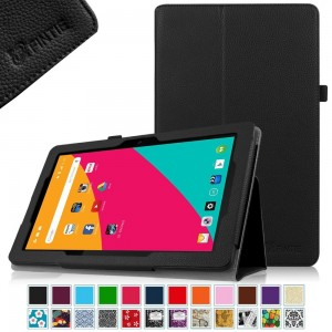 Fintie Dragon Touch X10 / KingPad K100 Folio Case - Premium PU Leather Stand Cover with Stylus Holder for Dragon Touch X10 / KingPad K100 10.6-Inch Android Tablet, Black