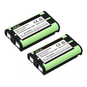 2-Pack iMah Ryme B14 Cordless Phone Battery for Panasonic HHR-P104 KX-TG2314 KX-TG2322 KX-TG2343 KX-TG2344 KX-TG2346 KX-TG2356W KX-TG2357B KX-TG2357PK KX-TG2366 KX-TG2382B KX-TGA560 Handset Telephone