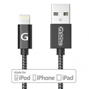 [Apple MFi Certified] Gshine 3ft(0.9m) Durable Nylon Braided Lightning to USB Cable for iPhone 6 /