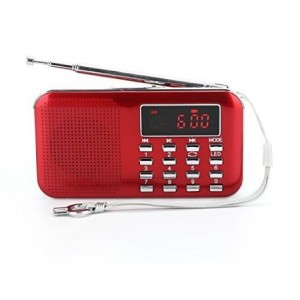 Ohala Mini Portable Am/Fm Radio Mp3 Music Player Speaker Support Micro Sd/tf Card (red)
