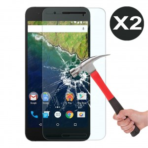OMOTON Nexus 6P Screen protector [2 Pack] - [9H Hardness] [Crystal Clear] [No-Bubble] Tempered Glass Screen Protector for Huawei Google Nexus 6P