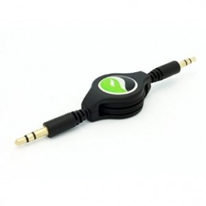 Fonus Retractable Car Stereo Auxiliary AUX-in Cable Audio Adapter for iPhone, iPad and iPod