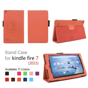 Elsse Folio Case with Stand for Kindle Fire 7 - Orange