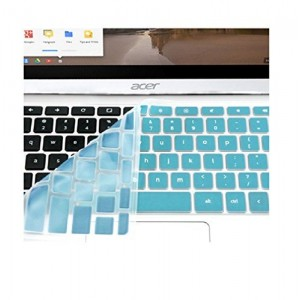 "Keyboard Cover For Acer Chromebook Cb3 111 | 11.6 "" Cb3-111 C670 C8ub C720 C720P (Us Layout) Top Quality Silicon Chromebook Accessories (Not fit Acer CB3-131) - Turquoise Blue by Casiii"