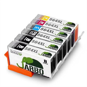 JARBO 5 Color Replacement HP 564XL ink Cartridge High Yield 1 Set+1 Black Used in HP Photosmart 5520 6520 7520 5510 6510 7510 7525 B8550 C6380 D7560 Premium C309A C410 Officejet 4620 Deskjet 3520