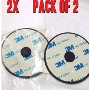StickemAdhesive Lot of 2-70mm Adhesive Mounting Disk for Car Dashboards GPS Smartphone Dashboard Disc