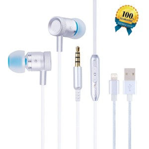 EverDigi 2 Pack Headphones Premium Quality Earphones Earbuds with Mic and Remote Control for iPhone SE, 6, 6s, 6 Plus, 6s plus, iPhone 5s 5c 5, iPad /iPod (Rose Gold)