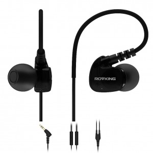 Defway Rovking Sweatproof Sport Workout Headphones In Ear Bass Exercise Earpods with Remote and Mic Noise