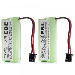 EBL 2 Packs High Performance BT 1008 BT 1016 BT 1021 DCX200 800mAh Home Cordless Phone Rechargeable Batteries