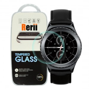 Gear S2 Classic Screen Protector - Rerii Samsung Gear S2 Classic Tempered Glass Screen Protector,High Definition,9H Hardness,0.3mm Thickness,Shatterproof,Delicate Touch Oleophobic Coating,Real Glass