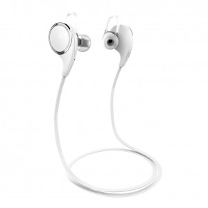 007plus Earphones Headsets for Sport Wireless Bluetooth V4.1 Headphones Qy8 (Upgrate Qy7) Sport Headphones Sweatproof Running Gym Stereo Earbuds Headsets Built-in Mic/APT-X (White)