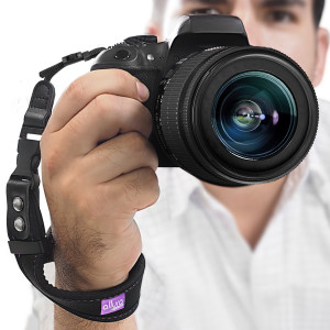 Camera Hand Strap - Rapid Fire Heavy Duty Safety Wrist Strap by Altura Photo w/ 2 Alternate Connections for Use w/ Large DSLR or Point and Shoot Cameras (2016 Update)
