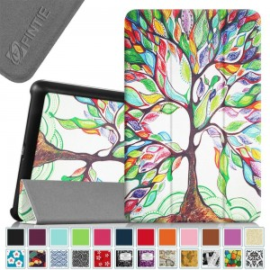 Fintie Verizon Ellipsis 8 Slim Shell Case - Ultra Slim Lightweight Stand Cover for Verizon Ellipsis 8 4G LTE Tablet, Compatible With Verizon Ellipsis Kids, Love Tree