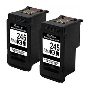 Valuetoner Remanufactured Ink Cartridge Replacement For Canon PG-245XL 245XL 245 XL High Yield 8278B001AA (2 Black) Compatible With PIXMA iP2820 MG2420 MG2520 MG2920 MG2922 MG2924 MX492 Printer