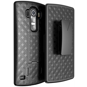 """GALAXY WIRELESS LG V10 Case - Holster Combo Case for LG V10 """"Lifetime Warranty"""" with KickStand and Belt Clip / H"""