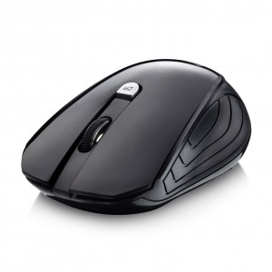 Wireless Mouse,Splaks 2.4Ghz Wireless Optical Mouse with Nano USB Receiver,4 Buttons, 3 Adjustable DPI Level (1000/1500/2000) - MS0808 Black