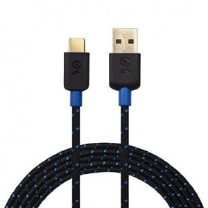Cable Matters USB 2.0 Type C (USB-C) to Type A (USB-A) Cable with Braided Jacket in Black 6.6 Feet