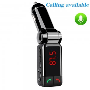 HC electronic Bluetooth FM Transmitter,wireless Bluetooth Car Kit with 3.5 mm Stereo Output,Audio Receiver Adapt