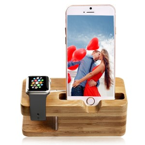Tophot Apple Watch Stand, Bamboo Wood New Edition Waterproof Night Accessories Charging Station Stand Cra